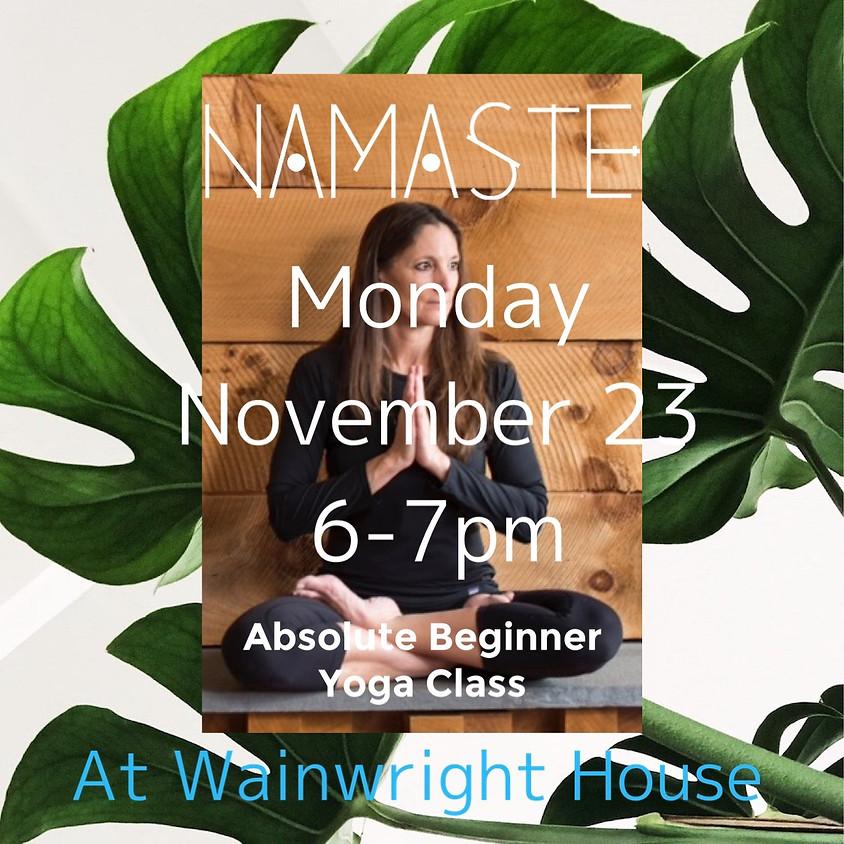 Absolute Beginner's Yoga Class 11/23