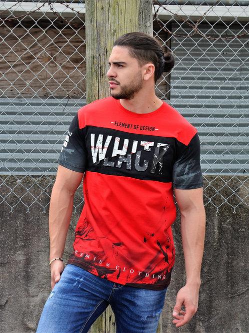 """Etzo  """"White/Black"""" Urban Graphic Tee Shirt (TK7803)"""