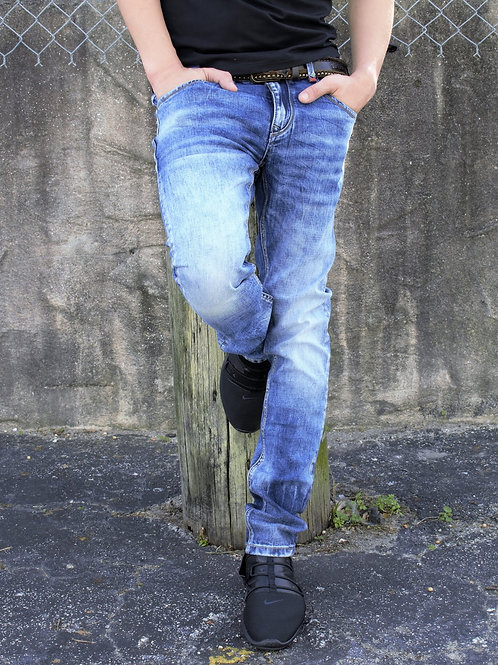 Etzo Premium washed denim (J7650)