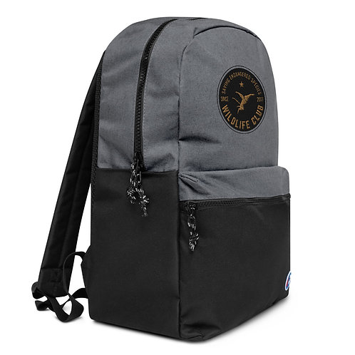 Wildlife Club Embroidered Logo Champion Backpack