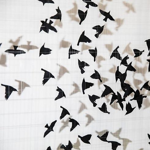Starlings Paper Cut Art