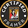 Certified Framer of Fine Art Trade Guild
