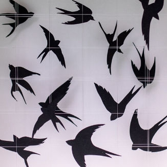 3D Wall Art Birds
