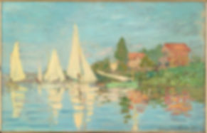 "Claude Monet ""Regatta at Argenteuil"" 1872, oil on canvas"