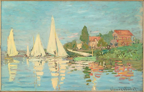 """Claude Monet """"Regatta at Argenteuil"""" 1872, oil on canvas"""