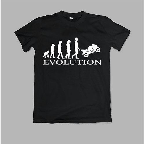 Motoros evolúció - feliratos póló