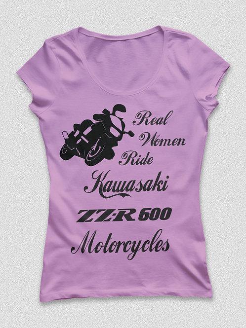 Női motoros Kawasaki póló