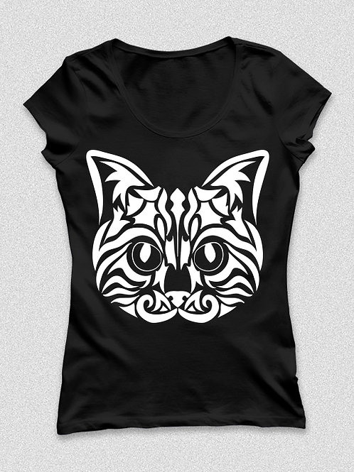 Tattoo cat - tetovált cicás póló