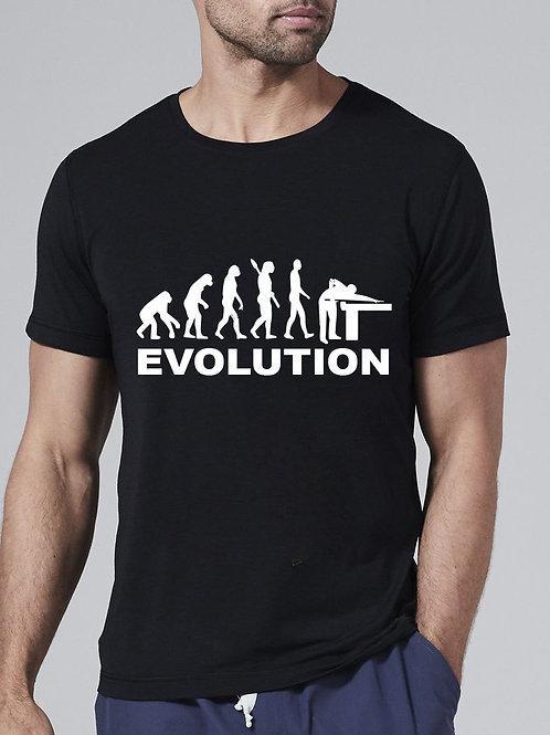 Billiárd / snooker evolúció póló - feliratos póló