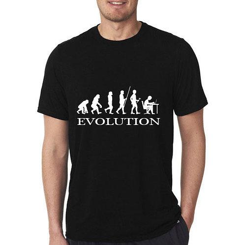 Informatikus evolúció póló - feliratos póló