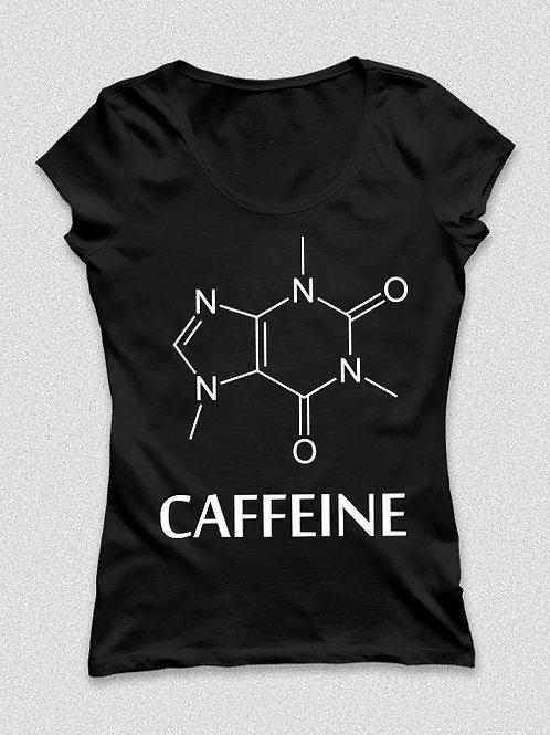 Caffeine molekula -  kávés, feliratos póló