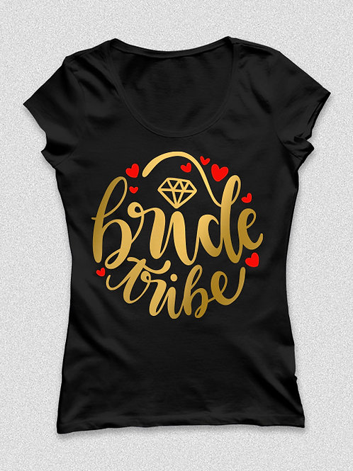 Bride tribe -  arany feliratos póló