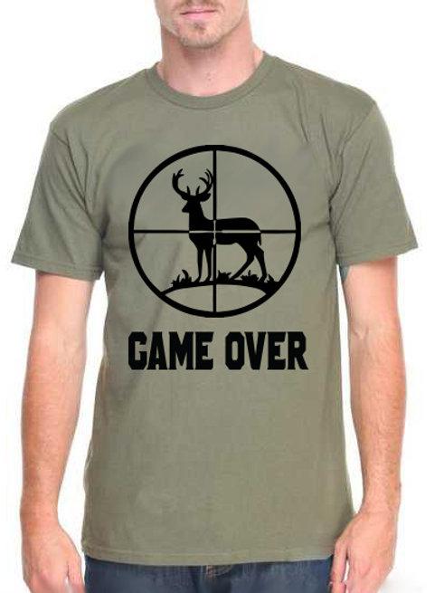 Game Over - férfi póló vadászoknak