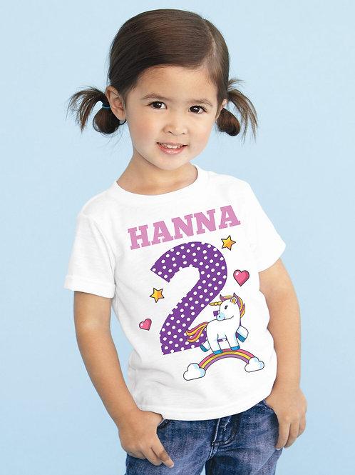 Pónis póló névvel és számmal - szülinapi póló
