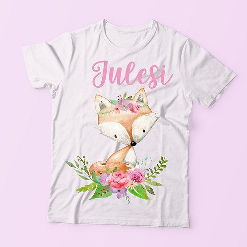 Rókás feliratos póló lányoknak - szülinapi póló