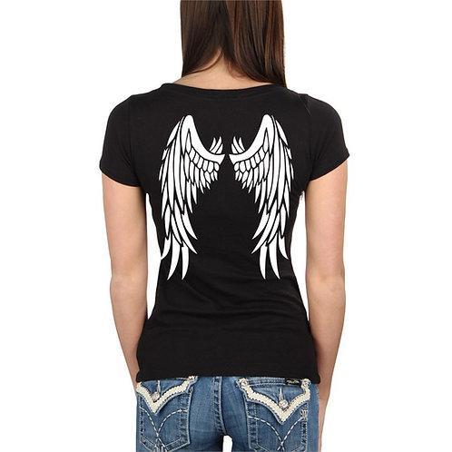 Angyalszárnyas női póló