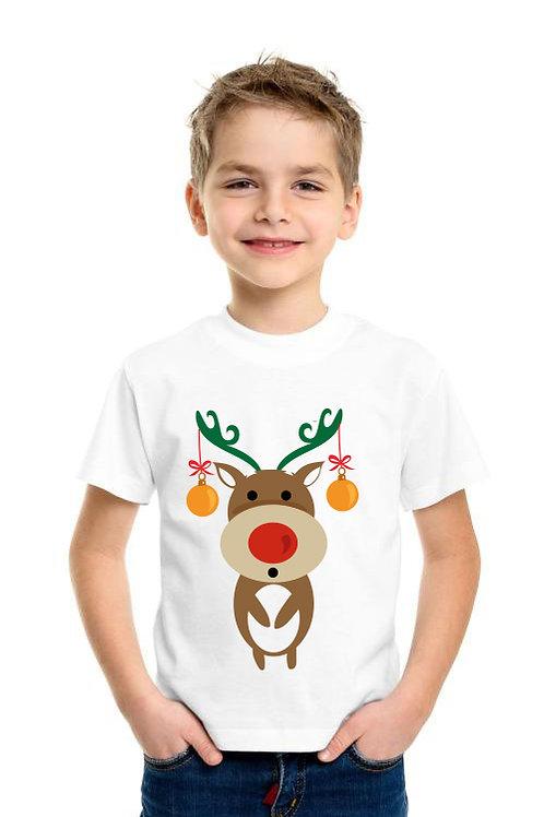 Rénszarvasos karácsonyi gyerek póló