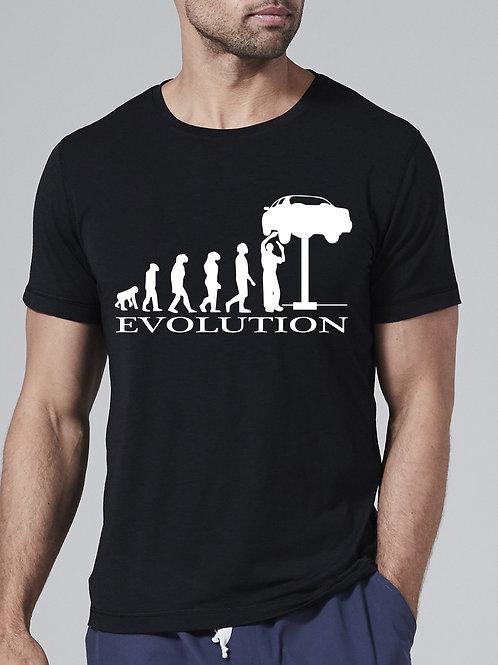 Autószerelő evolúció - férfi póló