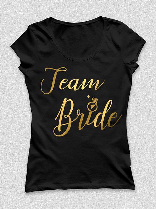 Team Bride - koszorúslány feliratos póló