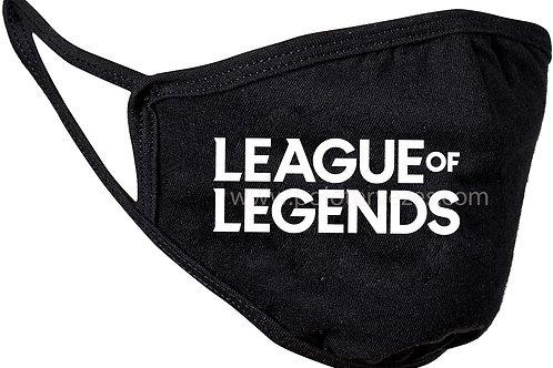 League of Legends LOL logós maszk, feliratozott maszk, egyedi maszk