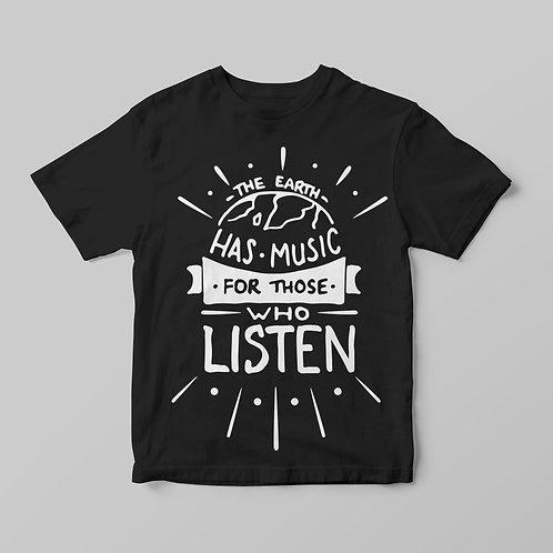 The Earth has music.. - feliratos póló