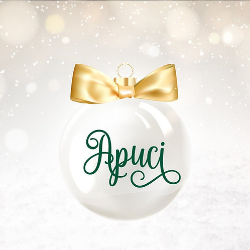 NÉV matrica karácsonyfa gömbre, biciklire, futóbiciklire, kulacsra, stb.