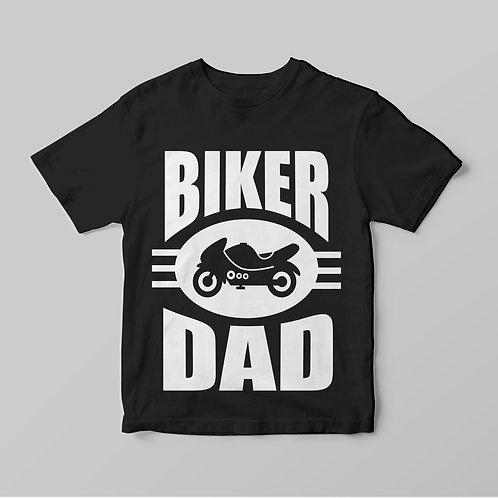 Motoros Apa - Biker Dad, feliratos motoros póló