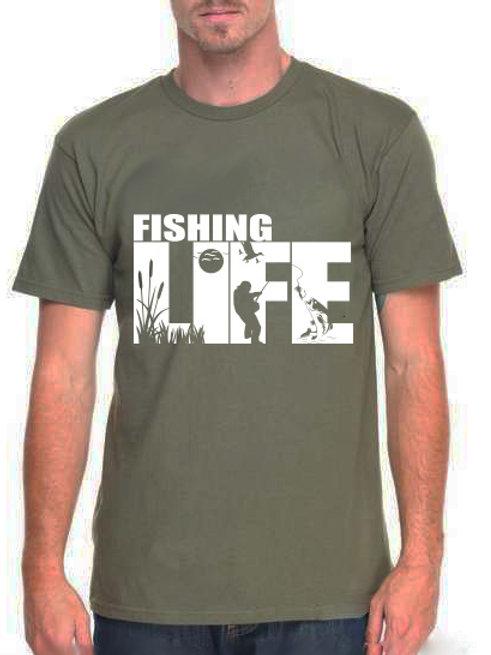 Póló horgászoknak, horgász póló -fishing life