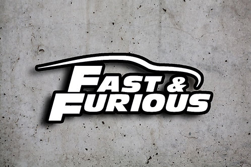 Fast and Furious Matrica, fekete háttérrel