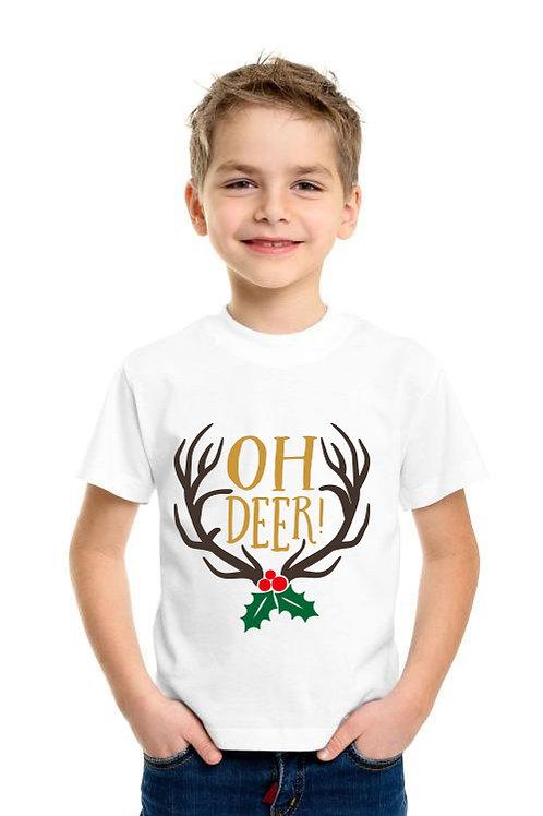 Oh Deer karácsonyi gyerek póló - feliratos póló - szülinapi póló