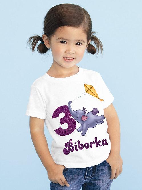 Micimackó Zelefánt póló névvel és számmal - szülinapi póló