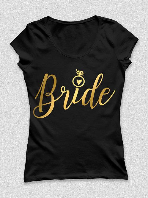 Bride - metál arany feliratos póló