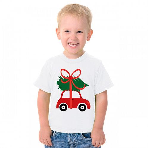 Karácsonyi autó - feliratos póló - szülinapi póló