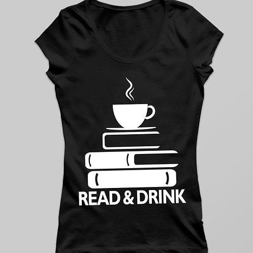 Read & Drink  póló - kávé és olvasás póló