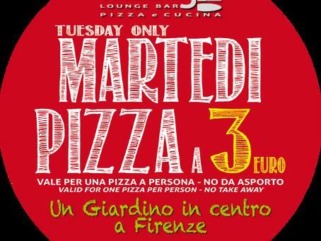 Martedì pizza a 3 Euro
