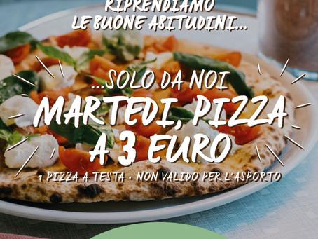 Martedì a cena Pizza a 3,00 Euro