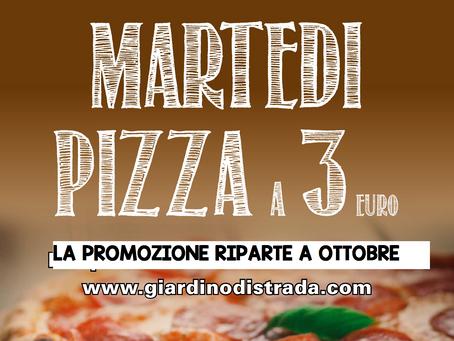 Ritorna la Pizza a 3,00 €