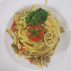 Spaghetti ai carciofi freschi