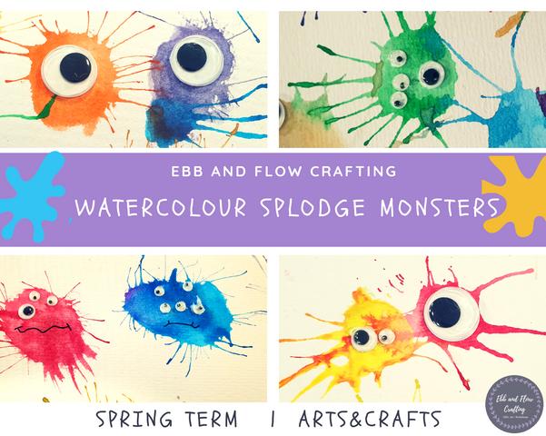 Watercolour Splodge Monsters