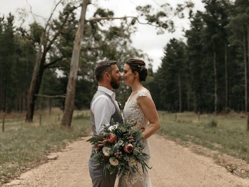 Sam + Sabrina | Burbrook Forest, South Australia | Wedding