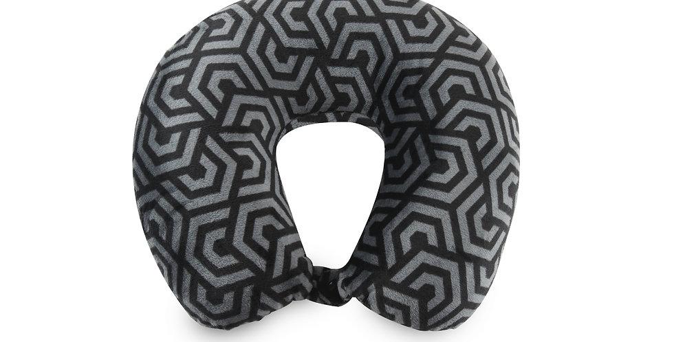 Broken Hex Signature Fiber-Filled Neck Pillow