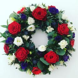 Red white blue wreath