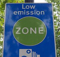 Low emission zone sign in London, UK_edi