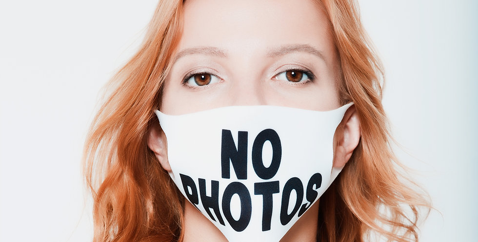 Маска на лицо с принтом NO PHOTOS