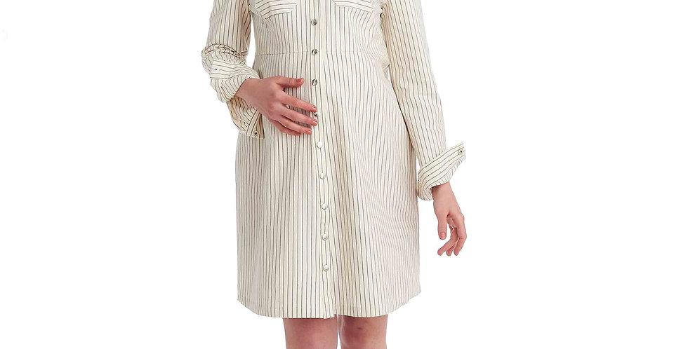 Легкое платье в полоску на кнопках