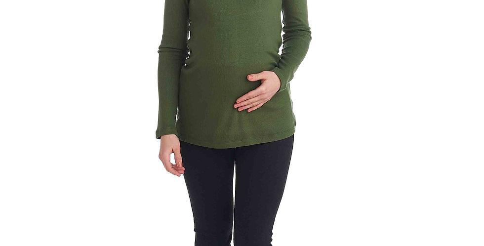 Лонгслив хаки для беременных Sonomamma