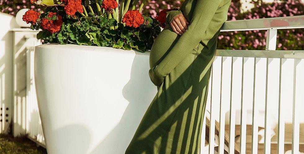 Зеленое платье Sono Mamma для беременных