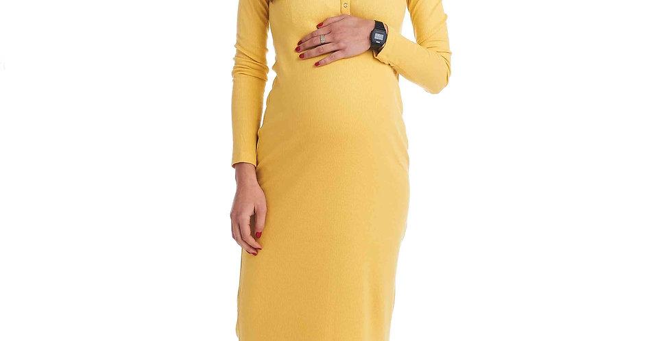 Желтое платье Sono Mamma для беременных
