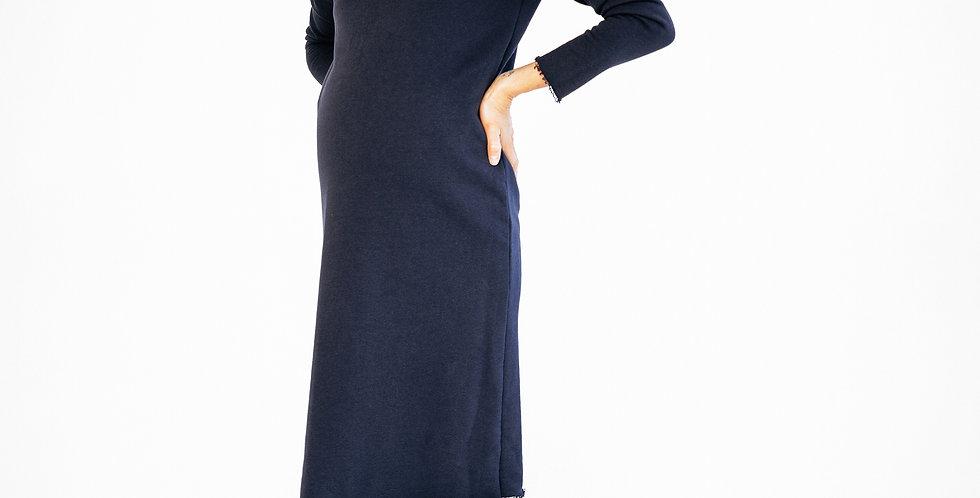 Платье для беременных тёмно-синее
