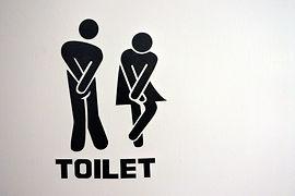 Urinary Urgency Toilet Sign